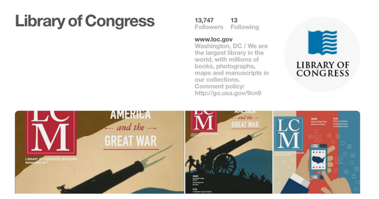 Library of Congress is on Pinterest!