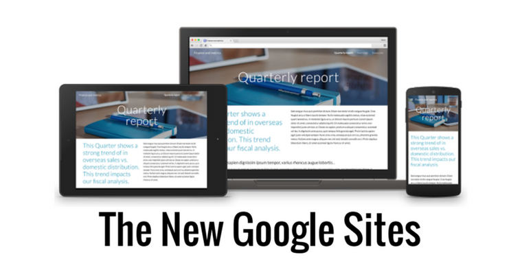 First Look:  The NEW Google Sites